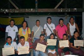 Entrega de certificados para estudiantes del Guaviare