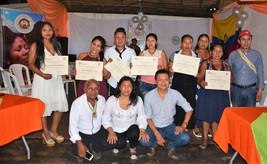 Entrega de certificados estudiantes del Guainía