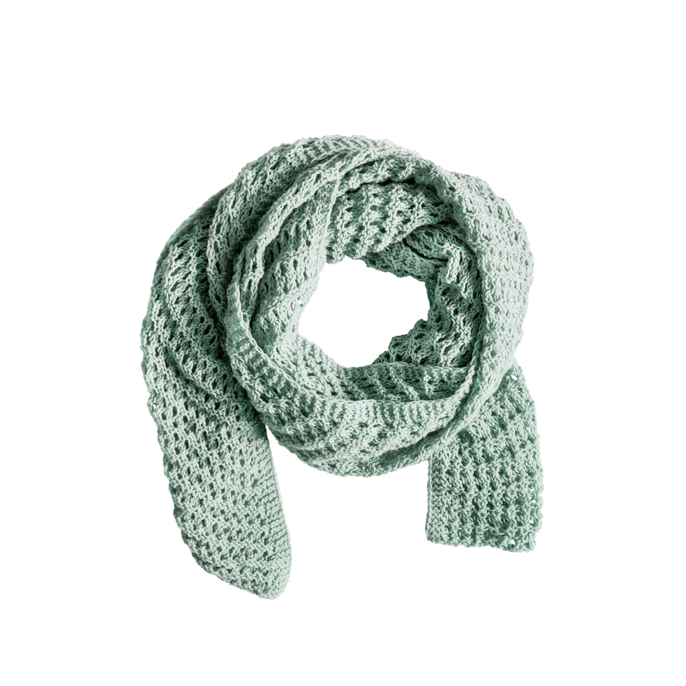 Mint Knitted Scarf