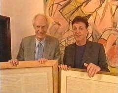 Sir George Martin and Paul McCartney