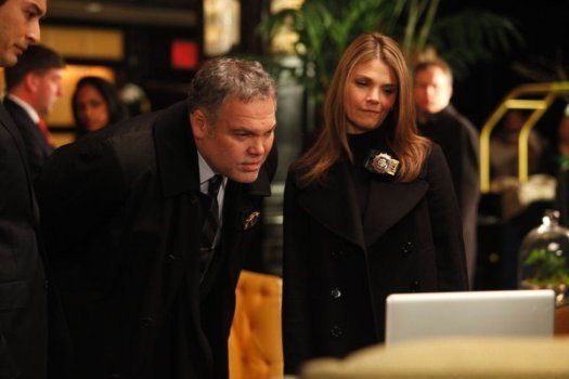 """Vincent D'Onofrio and Kathryn Erbe in """"Law & Order: Criminal Intent."""""""