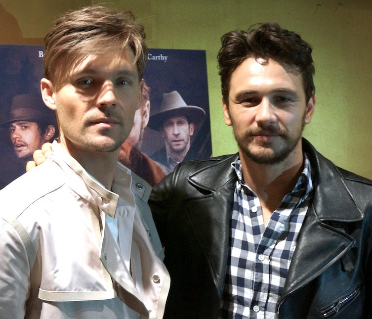 "Scott Haze and James Franco at the New York Press Day for ""Child of God.""  Photo copyright 2014 Brad Balfour."