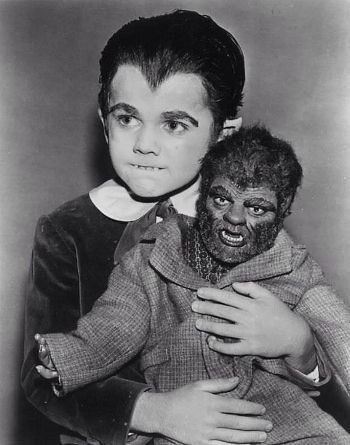 """Butch Patrick and Wolfie in """"The Munsters."""""""