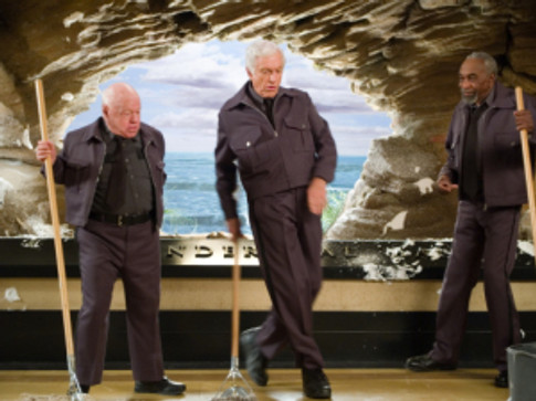"Mickey Rooney, Dick Van Dyke and Bill Cobbs star in ""Night At the Museum."""