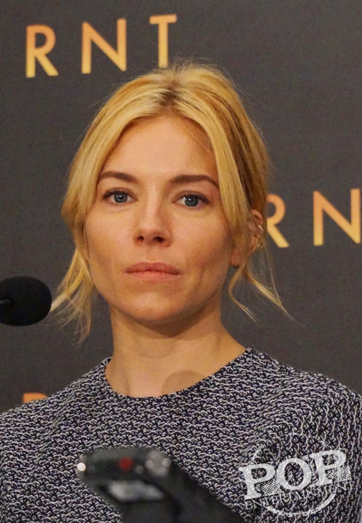 Sienna Miller at the New York press conference for Burnt. Photo ©2015  Brad Balfour.  All rights reserved.