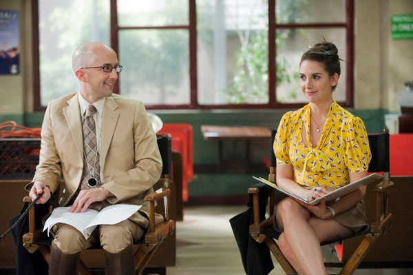 "COMMUNITY -- ""Documentary Filmmaking: Redux"" Episode 308 -- Pictured: (l-r) Jim Rash as Dean Pelton, Alison Brie as Annie -- Photo by: Lewis Jacobs/NBC"