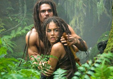 """Steven Strait and Camilla Belle in """"10000 BC."""""""