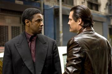 Denzel Washington and James Brolin in American Gangster