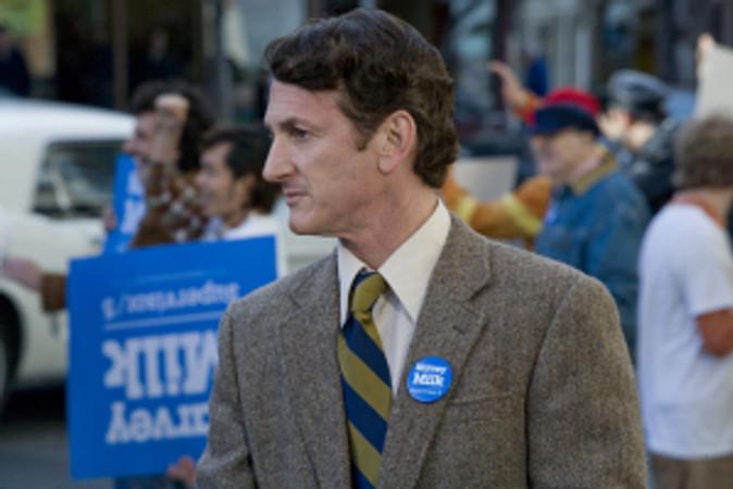 "Sean Penn stars in ""Milk."""