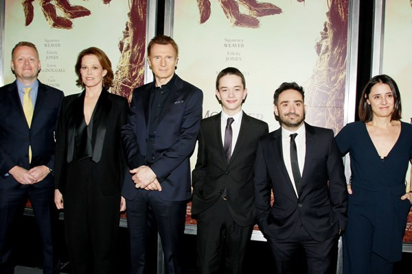 """-  New York, NY - 12/7/16 -The New York Premiere of """"A Monster Calls"""" . The Film stars Liam Neeson and Sigourney Weaver   - Pictured:  Cast of A Monster Calls   - Photo by: Dave Allocca/Starpix -Location: AMC Loews Lincoln Square 13"""