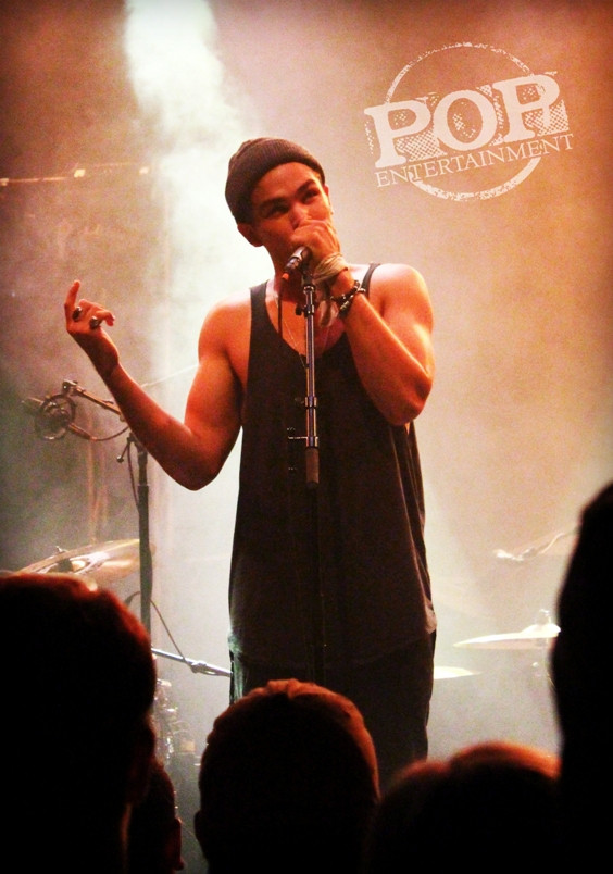 Roméo Testa performing at the Union Transfer in Philadelphia on October 12. Photo copyright 2014 by Caroline Serling.