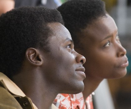 "Derek Luke and Bonnie Henna star in ""Catch a Fire."""