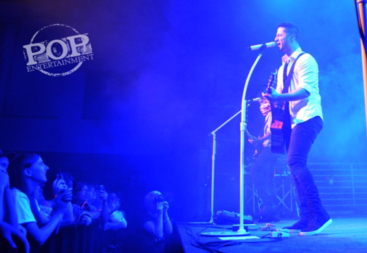 Alejandro Manzano of Boyce Avenue playing at The Union Transfer in Philadelphia.  Photo copyright 2014 Deborah Wagner.