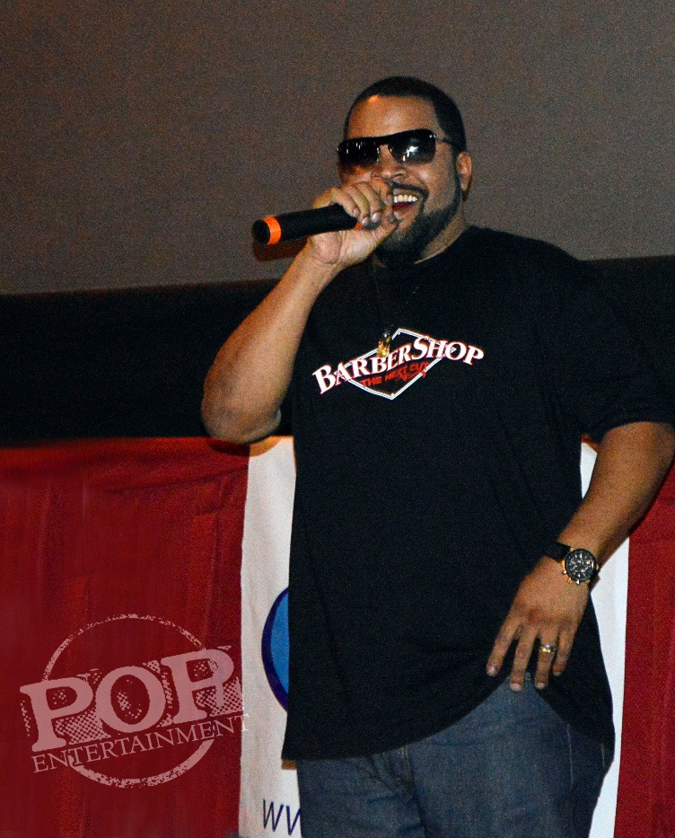 "Ice Cube at the ""Barbershop: The Next Cut"" premiere at the Pearl Theater in Philadelphia."