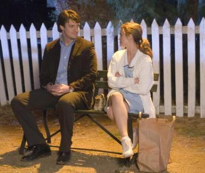 """Nathan Fillion and Keri Russell in """"Waitress."""""""