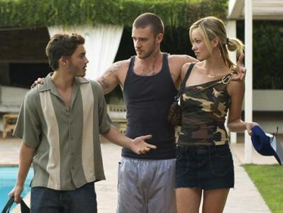 "Emile Hirsch , Justin Timberlake and Olivia Wilde star in ""Alpha Dog."""