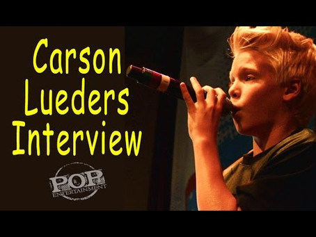 Carson Lueders Interview from Pop Nation Tour