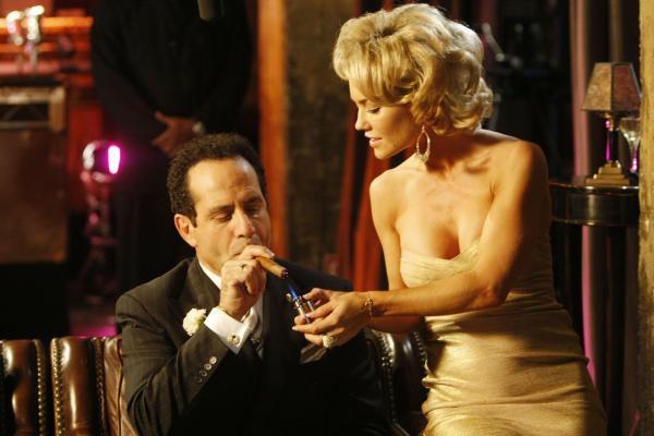 Tony Shalhoub and Kelly Carlson in MONK.