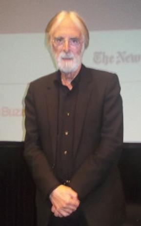 "Michael Haneke at the New York Film Festival screening of ""Amour."""