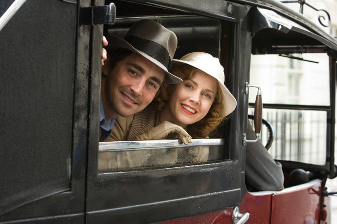 "Amy Adams and Lee Pace star in ""Miss Pettigrew Lives For a Day."""