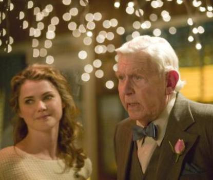 """Keri Russell and Andy Griffith in """"Waitress"""""""