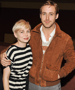 "Michelle Williams and Ryan Gosling at the screening of ""Blue Valentine."""