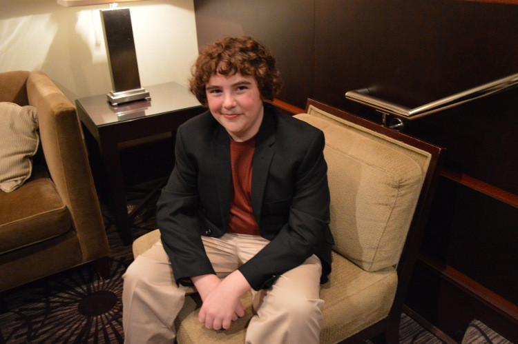 """Blake Cooper at the Westin Hotel in Mount Laurel, NJ for a premiere party for """"The Maze Runner.""""  Photo copyright 2014 George Seth Wagner."""