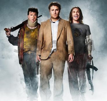 "Danny McBride, Seth Rogen and James Franco in ""Pineapple Express."""