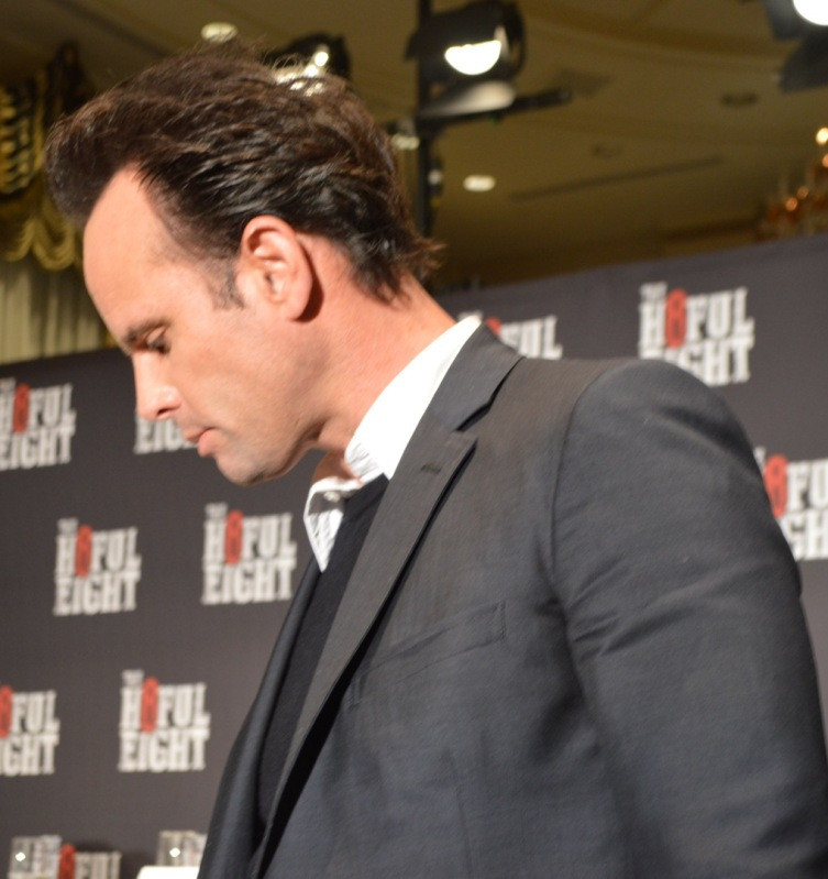 """Walton Goggins at the New York Press Conference for """"The Hateful Eight."""" Photo copyright 2015 Jay S. Jacobs."""