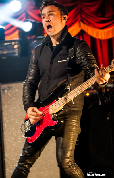 Pete Wentz of Fall Out Boy in concert in New York.  Photo copyright 2013 by Mark Doyle.