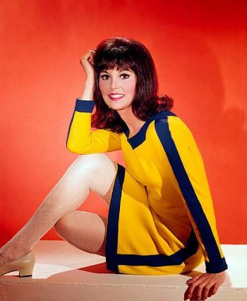 "Marlo Thomas in ""That Girl"" wearing the dress she has since remade for the That Woman line."