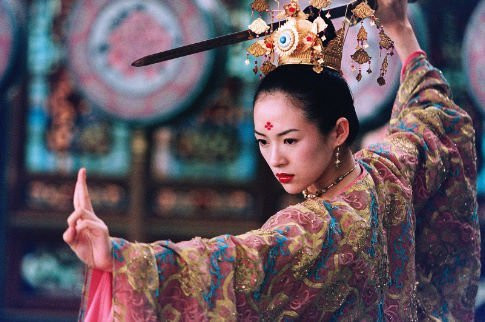 """Ziyi Zhang in """"House of the Flying Daggers."""""""