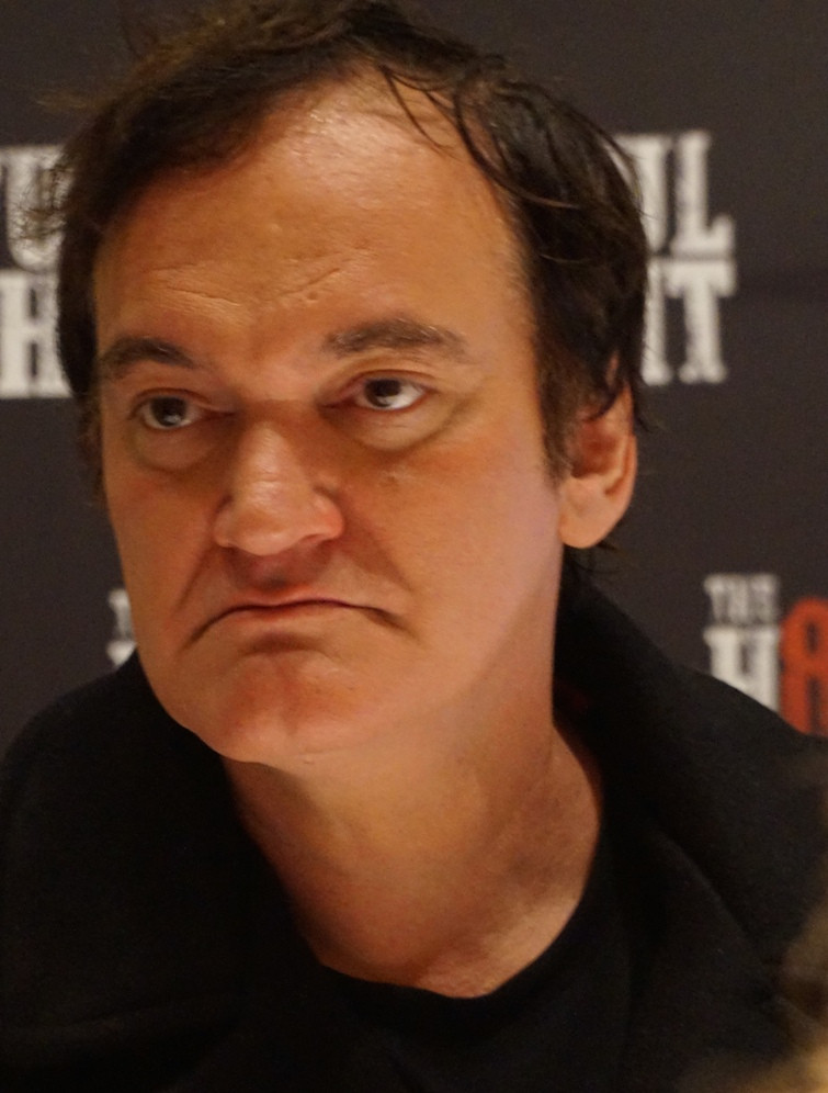 """Quentin Tarantino at the New York Press Conference for """"The Hateful Eight."""" Photo copyright 2015 Brad Balfour."""
