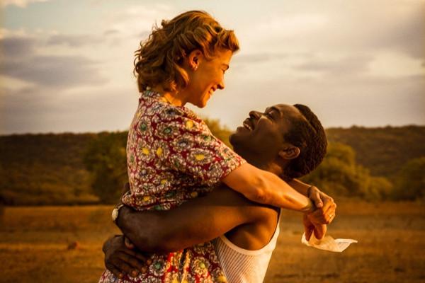"Rosamund Pike and David Oyelowo in ""A United Kingdom."""