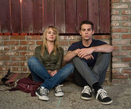 "Britt Robertson and Dylan O'Brien in ""The First Time."""