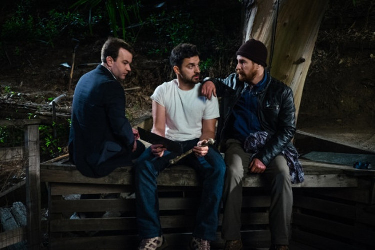 """Mike Birbiglio, Jake Johnson and Sam Rockwell star in """"Digging for Fire."""""""