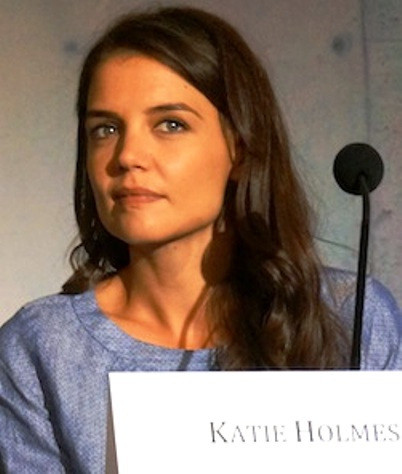 "Katie Holmes at the New York press conference for ""The Giver.""  Photo copyright 2014 Brad Balfour."