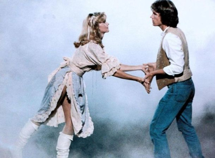 Olivia Newton-John and Michael Beck in