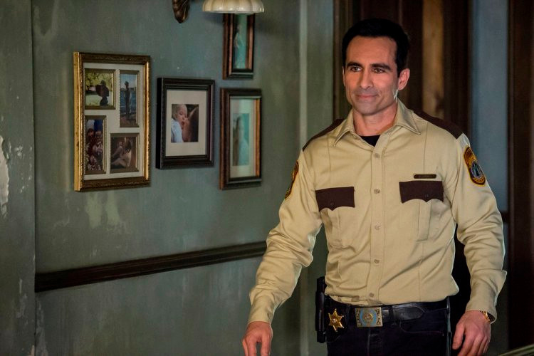 "BATES MOTEL -- ""The Vault"" Episode 406 -- Pictured: Nestor Carbonell as Sheriff Alex Romero -- (Photo by: Cate Cameron/Universal Television)"