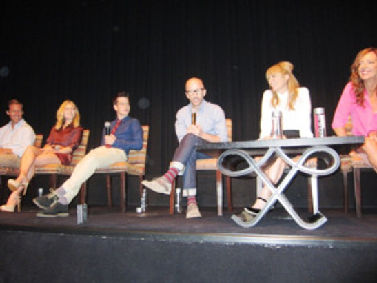 """Nat Faxon, AnnaSophia Robb, Liam James, Jim Rash, Toni Collette and Allison Janney at the New York Press Conference for """"The Way Way Back."""""""