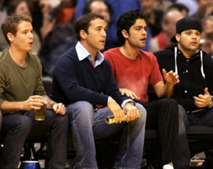 "Kevin Connolly, Jeremy Piven, Adrian Grenier and Jerry Ferrara in ""Entourage."""