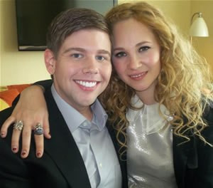 "Jeremy Tozier and Juno Temple at the New York Press Day for ""Dirty Girl."""