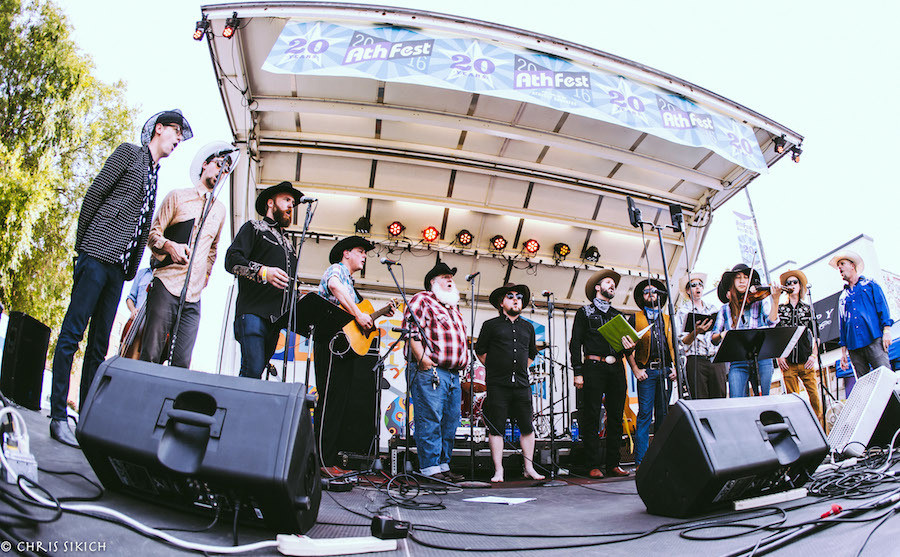 Athens Cowboy Choir – Athfest – Pulaski St. Stage – Athens, GA – June 24, 2016 – Photo by Chris Sikich © 2016
