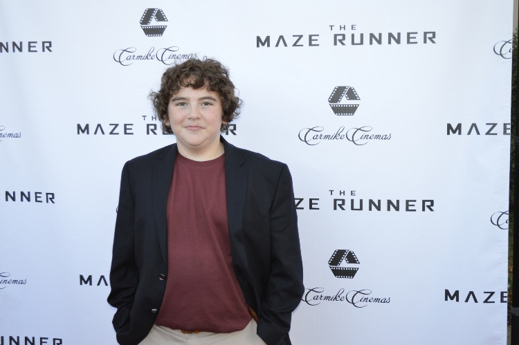 """Blake Cooper at the Carmike Theater in Vorhees, NJ for a premiere screening for """"The Maze Runner.""""  Photo copyright 2014 Jay S. Jacobs."""