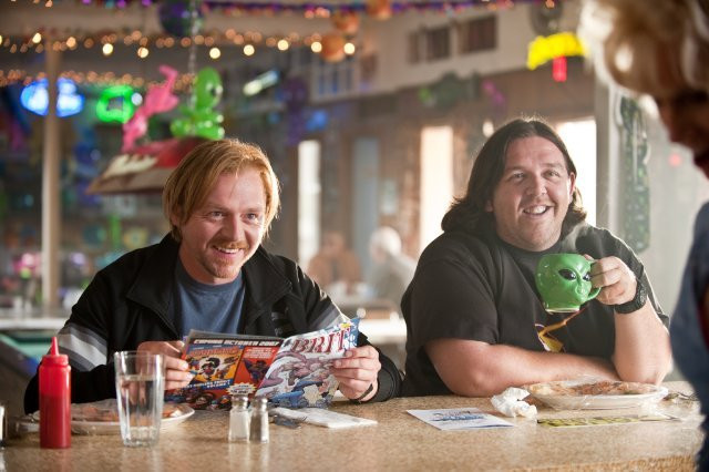 """Simon Pegg and Nick Frost in """"Paul."""""""