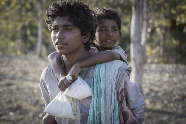 "Abhishek Bharate and Sunny Pawar in ""Lion."""
