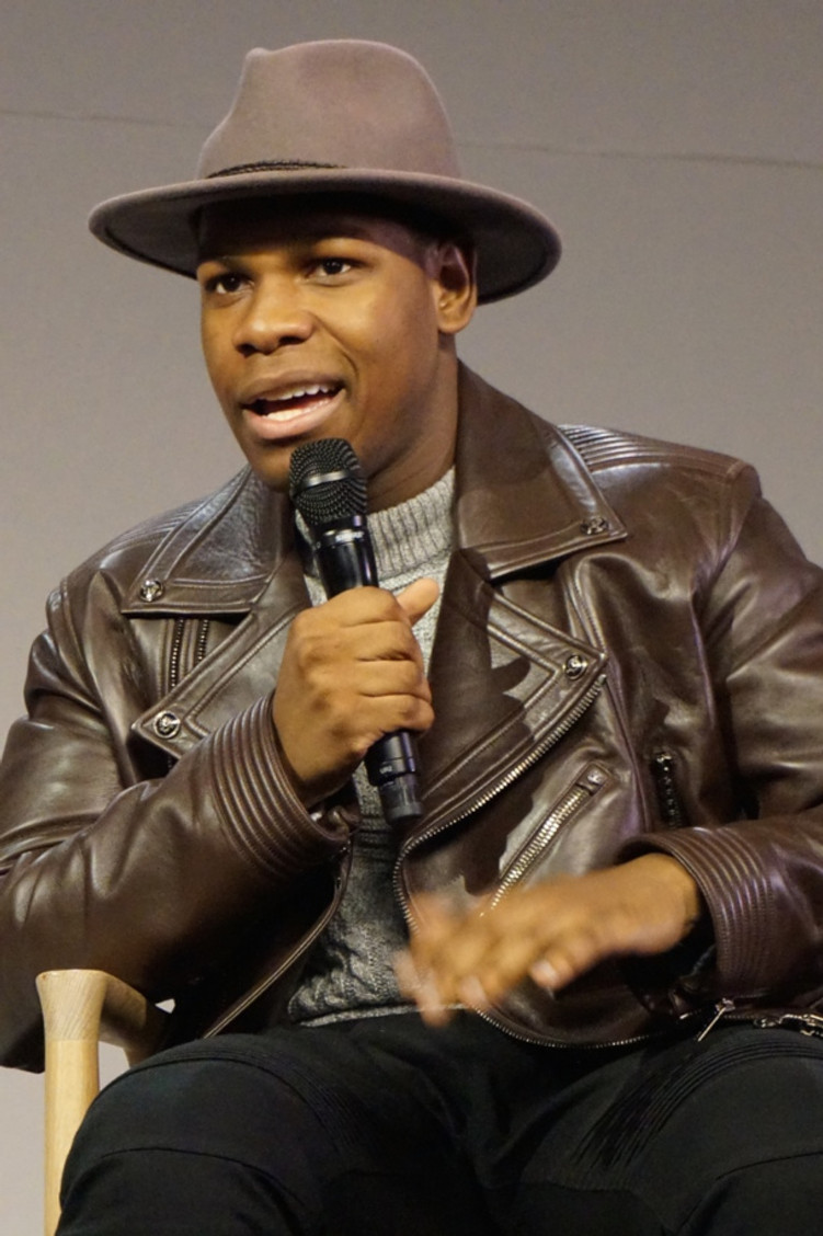 "John Boyega at New York Apple Store discussing ""Star Wars: The Force Awakens.""  Photo copyright 2016 Brad Balfour."