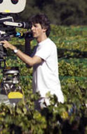 "Alexander Payne filming ""Sideways."""