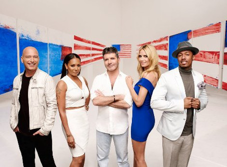 Simon Cowell and Mel B – Keeping Watch on America's Talent