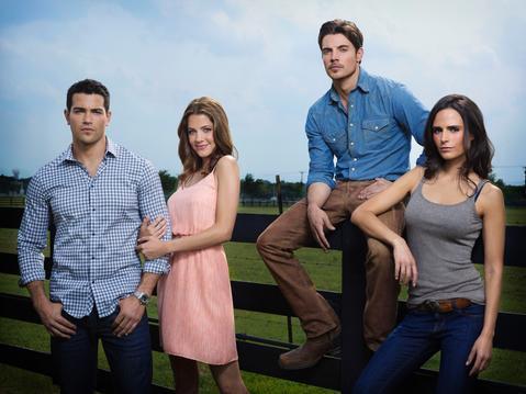 "Jesse Metcalfe, Julie Gonzalo, Josh Henderson and Jordana Brewster star in ""Dallas."""